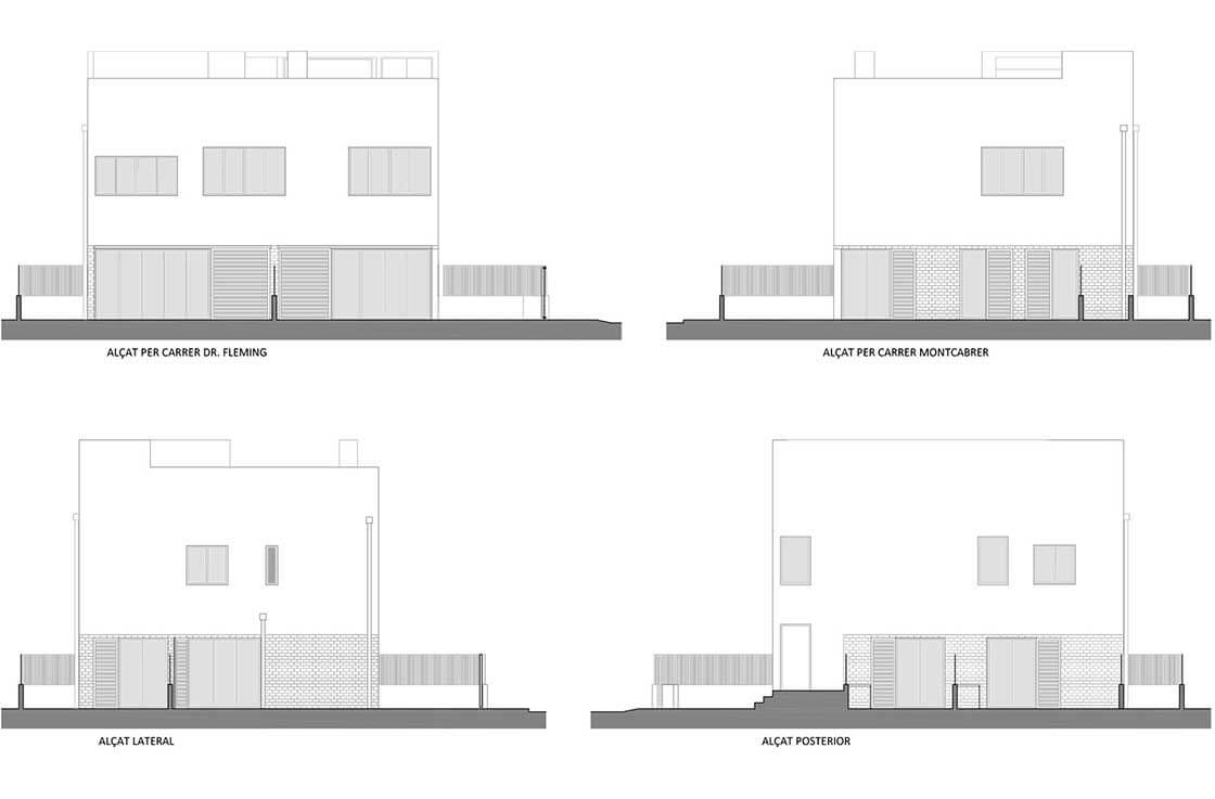 Dr. Flemming - alzados @Marc García-Durán, arquitecto