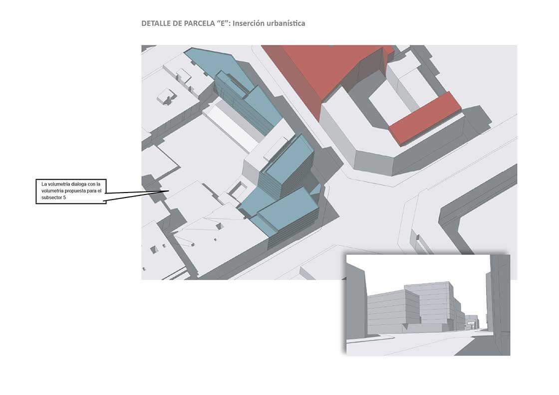 Sub-Sector 4 - Detalle Parcela E @Marc García-Durán, arquitecto