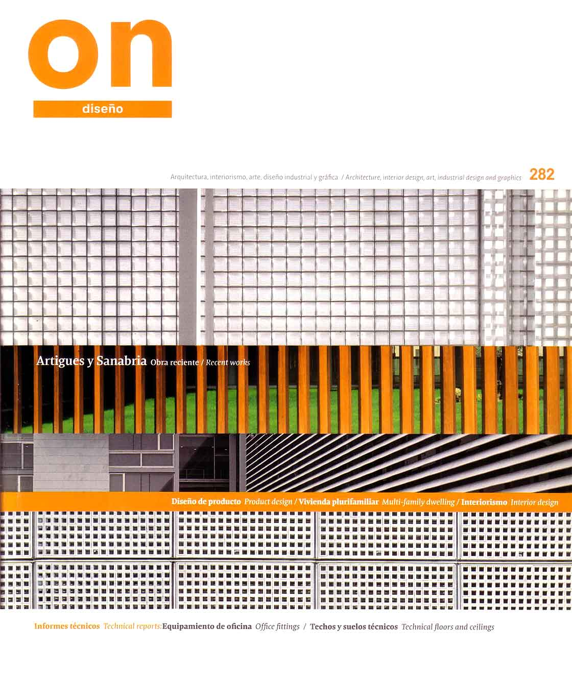 ON diseño n. 282 - portada @Marc García-Durán, arquitecto