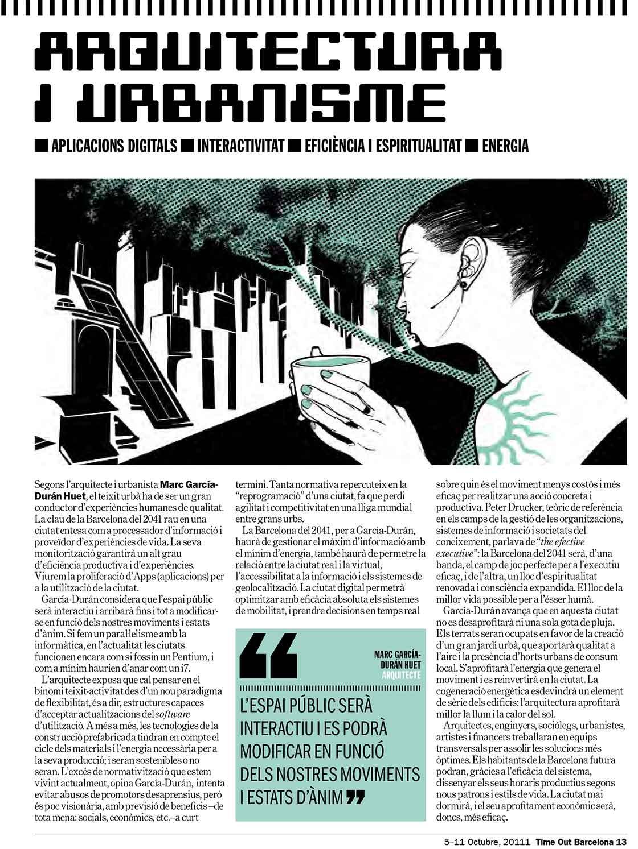 TimeOut Barcelona n.188 - pagina 13 @Marc García-Durán, arquitecto