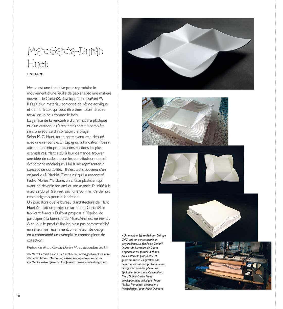 Un nouvelle art du pli - pagina 58 @Marc García-Durán, arquitecto